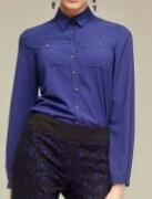 Синяя блузка BURVIN