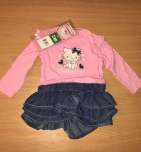Новое платье Hello Kitty 74 см