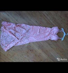 платье вечернее гипюр