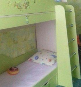2х ярусная кровать. ш.82 дл.190. Без матраца.