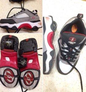 Роликовые кроссовки heelus
