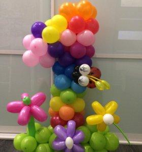 Цифры, букеты, фигуры из шаров