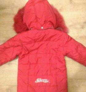 Куртка зимняя для девочки р116