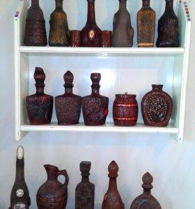 Декор графинов, ваз и т.д.