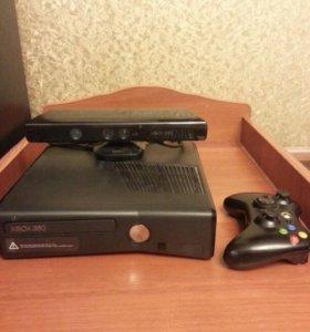 Xbox 360 4Gb + Kinect + игры