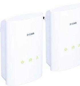 D-Link DHP-306AV сетевой адаптер - 2шт.