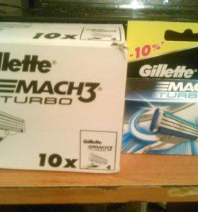 Лезвия Gillette Mach3 turbo