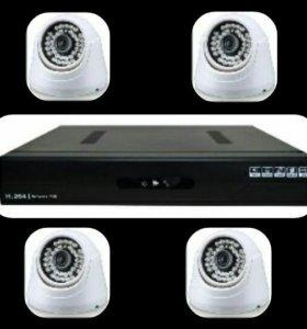 Комплект из 4х камер и регистратора