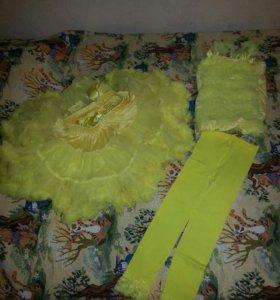 Жёлтый праздничный костюм или костюм на танцы
