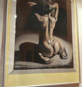 Картина, пастель. 40×50 см