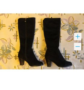 Зимние сапоги замшевые, 36 размер
