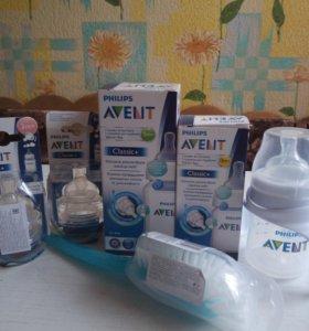 Набор бутылочек Avent новые