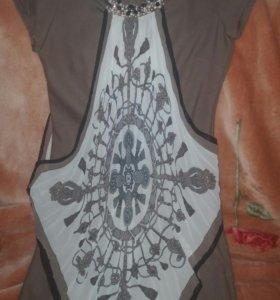 Платье с платком р.42