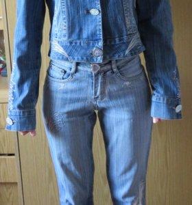 Джинсовый костюм (джинсы, джинсовка)