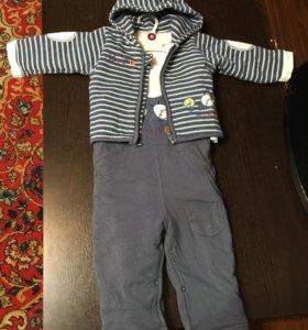 Костюм bolichin полукомбинезон куртка и рубашечка