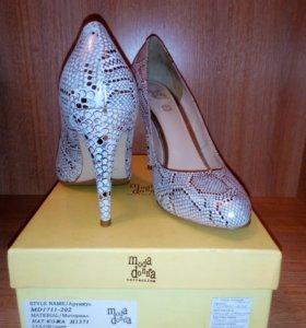 Туфли женские, натуральная кожа, 38 р-р