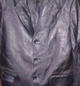Пиджак кожа италия