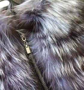 Кожаная куртка/меховая жилетка