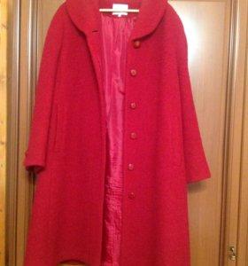 Пальто бордо женское