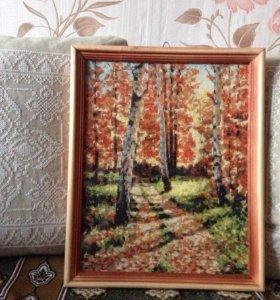 Две картины, вышивка крестиком
