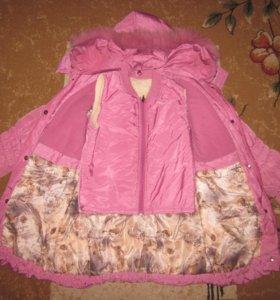 Зимняя куртка+жилет