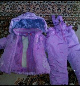 Зимний комплект для девочки.