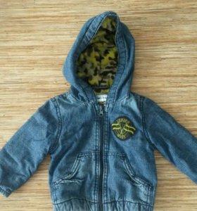 Джинсовая куртка на баечке
