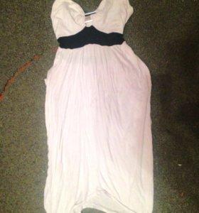 Платье белое коктейльное