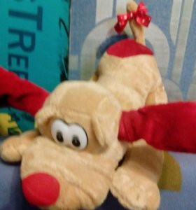 Мягкая игрушка-поющая-танцующая собака