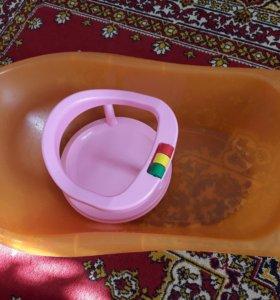 Детская ванночка и сиденье для купания