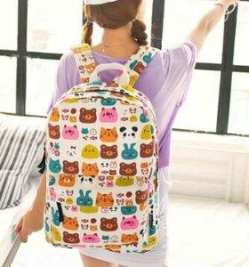 Рюкзак  пестрый, школьная сумка. Новый.