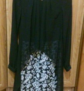 Шикарное платье с шифоном