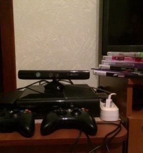 Xbox 360+2 джойстика+5 игр+Kinect