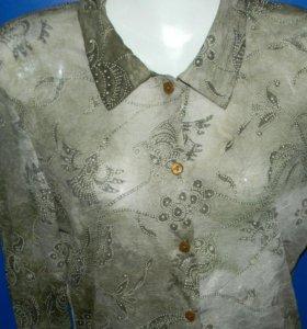 Трикотажная блуза р 46