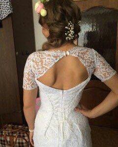 свадебное  платье 44-46 размера!!