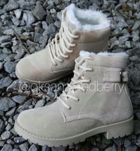 Новые Ботинки Зима Беж 36