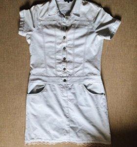 Джинсовое платье XL