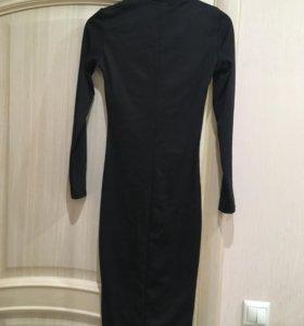 Черное платье-водолазка новое