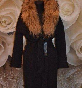 Новое зимние пальто с натуральный мехом