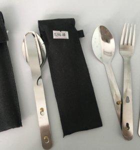 Набор приборов вилка ложка нож в поход