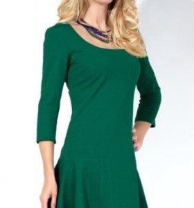 Новое Коктейльное изумрудное платье, 42-44 размера