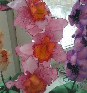 Орхидеи из фоамирана на заказ. Расцветка любая.