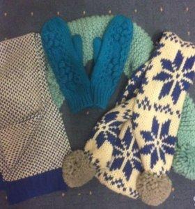 Новые шарфы и варежки