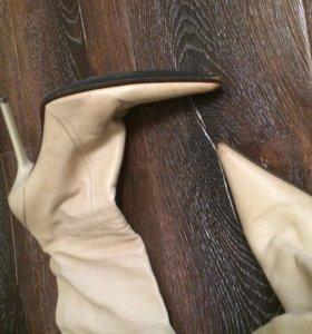 Кожаные сапоги (осень)