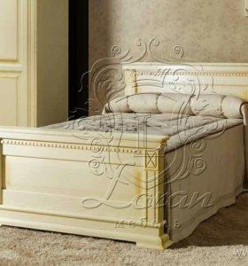 Кровать односпальная из массива дуба