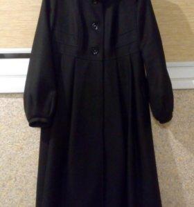 Пальто демисезонное длинное