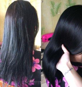 Кератиновое выпрямление/Botox волос