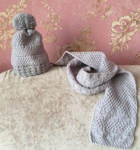 Набор шапка+шарф Новые!!!