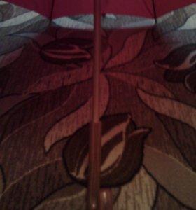 Большой красный зонт