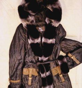 Зимняя куртка с шиншиллой